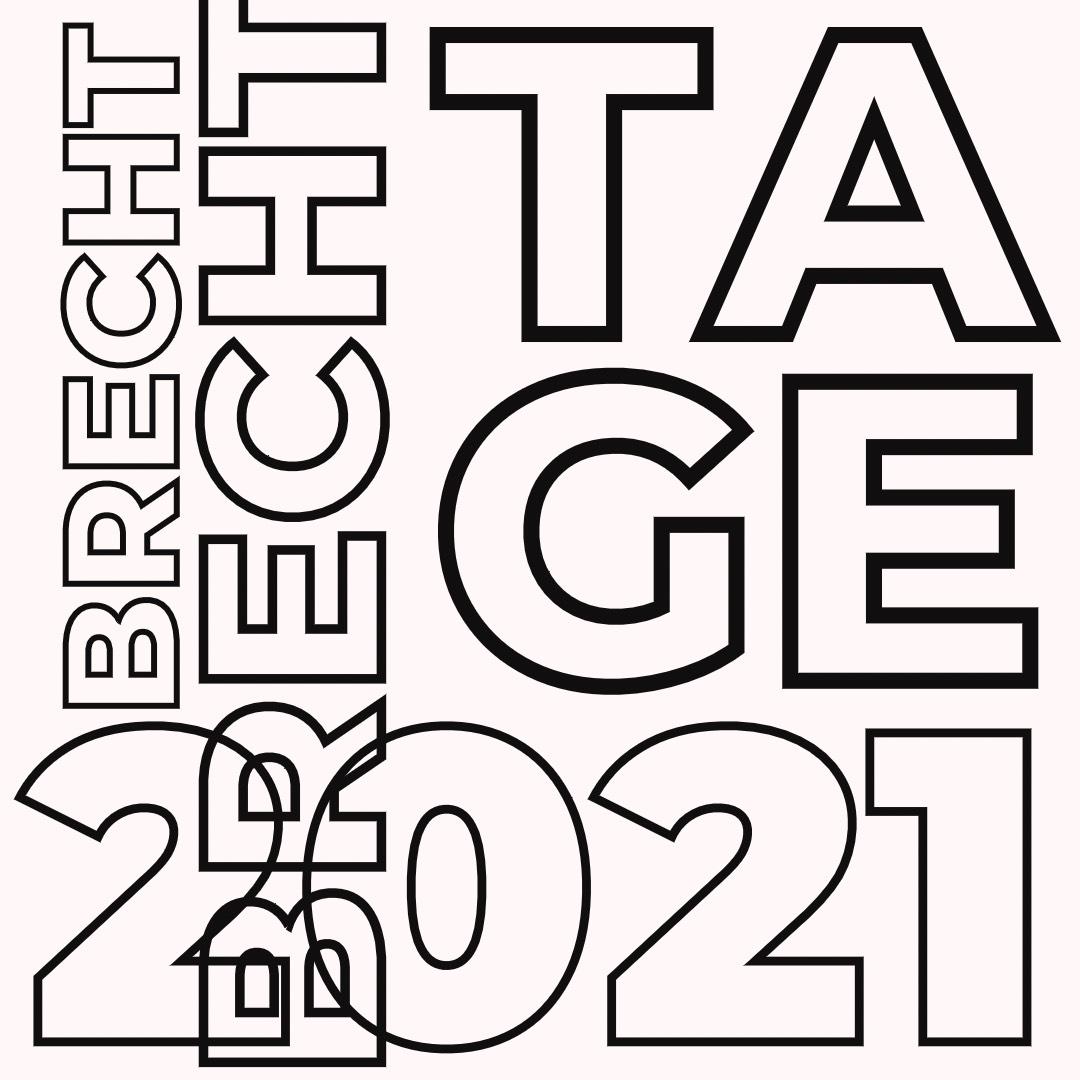 Vorstellung Brecht-Tage 2021 (Konzept, Programm), Präsentation »Brecht in Farbe« (Wandbild)
